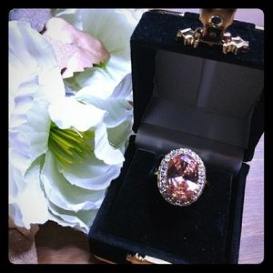 Peach & Gold Statement Ring